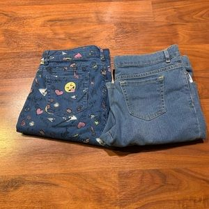 Girls 2 pair of children's place jeans